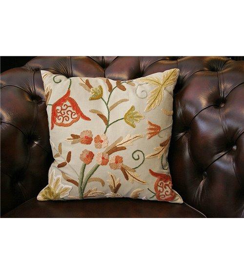 Kashmir Crewel Cushion Handmade in England