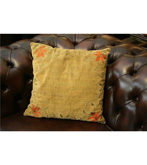 Crown Cream Tapestry Cushion