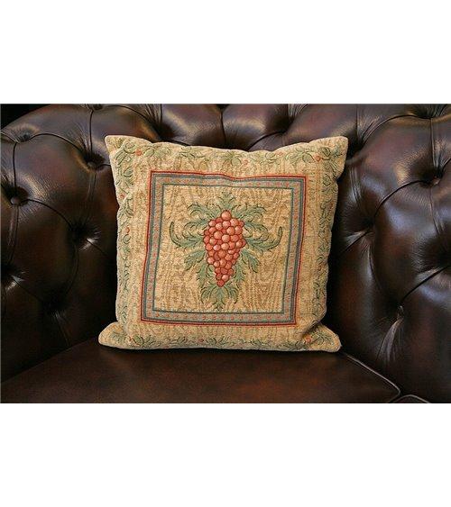 Kilim Panel Gold Vine Cushion
