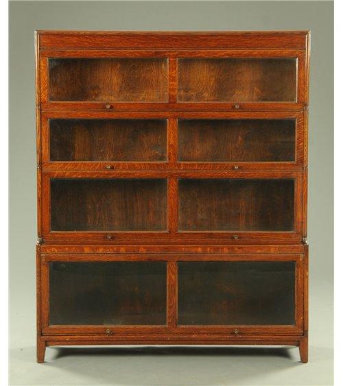 Oak Sectional Vintage Bookcase