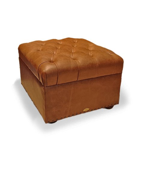 Monks Button Top Footstool